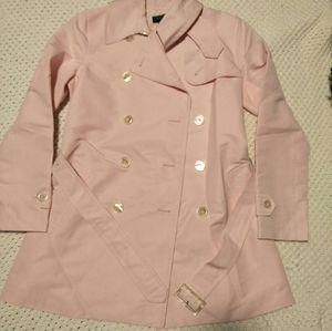 Lauren by Ralph Lauren baby pink trench coat